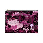 Two Hearts Beat as One Lav Large Cosmetic Bag - Cosmetic Bag (Large)