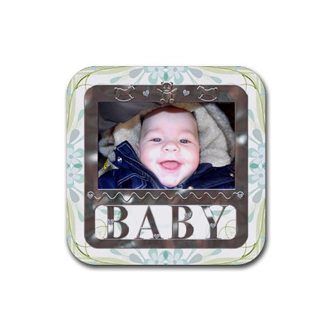 Baby Framed Coaster By Lil    Rubber Coaster (square)   8g2cev03vi9y   Www Artscow Com Front