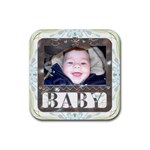 Baby Framed Coaster - Rubber Coaster (Square)
