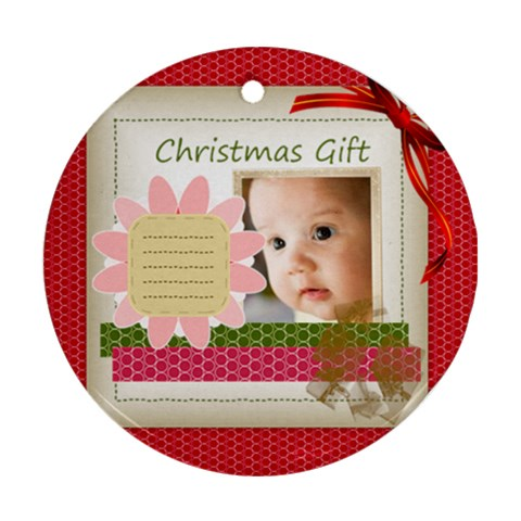 Christmas Baby By Joely   Ornament (round)   1bvsr5t65ccn   Www Artscow Com Front