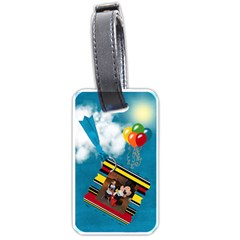 Magic Clouds Luggage Tag  By Cherish Collages   Luggage Tag (two Sides)   Ixfunqfbytxu   Www Artscow Com Front