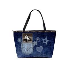 Denim Designed Classic Shoulder Handbag By Lil    Classic Shoulder Handbag   Liodxib63yfa   Www Artscow Com Back