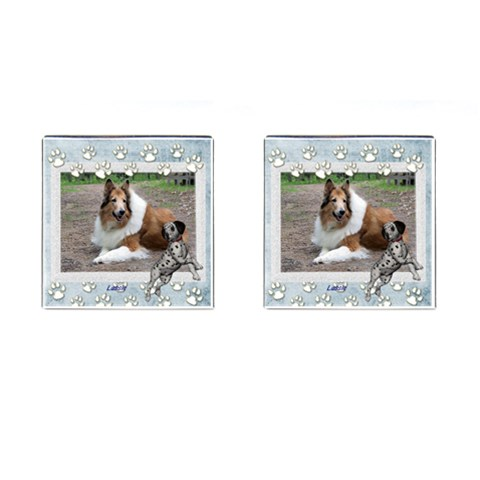 Lassie1 By Snackpackgu   Cufflinks (square)   8gh09m8je2ov   Www Artscow Com Front