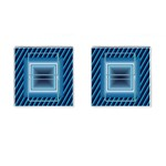 Blue cufflinks - Cufflinks (Square)
