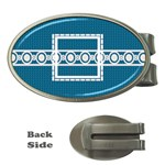 Blue oval money clip - Money Clip (Oval)
