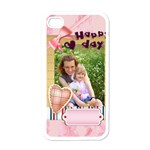 happy day - Apple iPhone 4 Case (White)