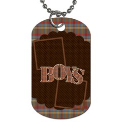 The Boys Of Fall Dog Tag 2 Sided 1 By Lisa Minor   Dog Tag (two Sides)   Yxlltj1k0z2y   Www Artscow Com Front