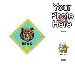 Cub Scout Game By Melissa Wulf   Playing Cards 54 (round)   Xt36h1z0v8tb   Www Artscow Com Front - Club5