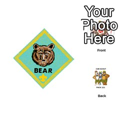 Cub Scout Game By Melissa Wulf   Playing Cards 54 (round)   Xt36h1z0v8tb   Www Artscow Com Front - Club8