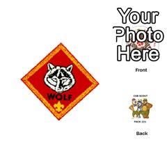 Cub Scout Game By Melissa Wulf   Playing Cards 54 (round)   Xt36h1z0v8tb   Www Artscow Com Front - Club9