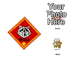 Cub Scout Game By Melissa Wulf   Playing Cards 54 (round)   Xt36h1z0v8tb   Www Artscow Com Front - Club10