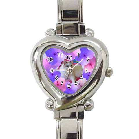 Floral Love Watch By Deborah   Heart Italian Charm Watch   Guw0p19o3uq7   Www Artscow Com Front