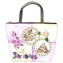 Harlequin Floral Bucket Bag By Catvinnat   Bucket Bag   Nmhgs6ltfmy8   Www Artscow Com Front