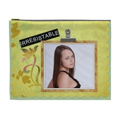 Irresistable/glamorous Xl Cosmetic Bag By Lil    Cosmetic Bag (xl)   Tt5ge2amyug3   Www Artscow Com Front