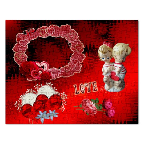 Love Red Heart Puzzle By Ellan   Jigsaw Puzzle (rectangular)   Ysyxinpl8qj6   Www Artscow Com Front