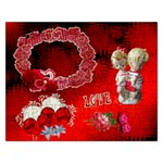 Love Red Heart Puzzle - Jigsaw Puzzle (Rectangular)