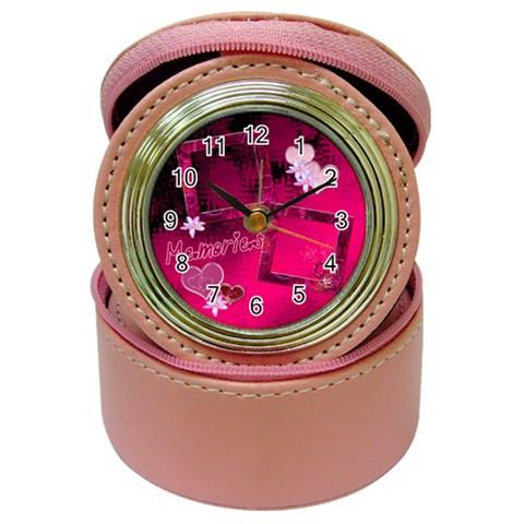 Memories Jewelry Case Travel Clock By Ellan   Jewelry Case Clock   Trno4vbpjwze   Www Artscow Com Front