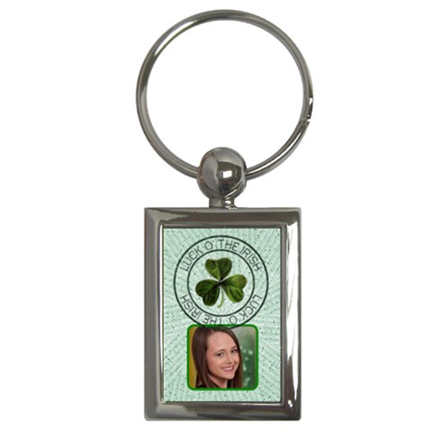 Luck O  The Irish Key Chain By Lil    Key Chain (rectangle)   Lb9cjcr5now9   Www Artscow Com Front