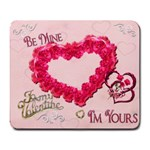 Be Mine I m Yours Hearts n Roses Pink Mouse Pad - Large Mousepad