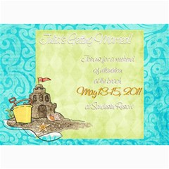 Weekend Getaway Shower Invite By Wendy   5  X 7  Photo Cards   Orc00okyjkd4   Www Artscow Com 7 x5 Photo Card - 7