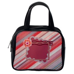 Red Flower Handbag By Daniela   Classic Handbag (two Sides)   Dd6wdfm1hb16   Www Artscow Com Back