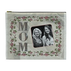 Mom Xoxo Xl Cosmetic Bag By Lil    Cosmetic Bag (xl)   Vmnd4skbtyxj   Www Artscow Com Front