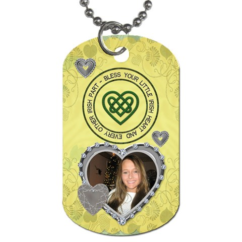 Bless Your Little Irish Heart Dog Tag By Lil    Dog Tag (one Side)   Uy1364igakdt   Www Artscow Com Front