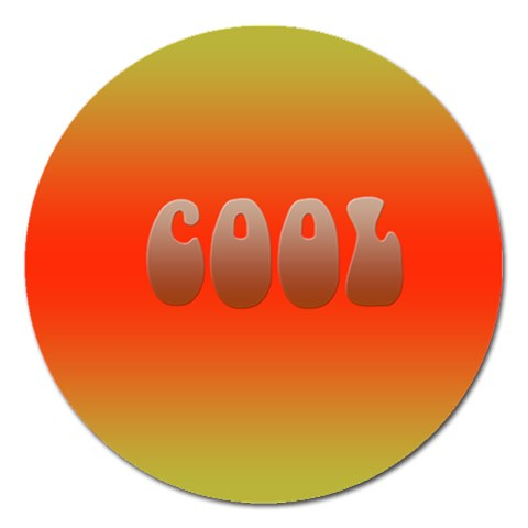 Cool By Charlotte Young   Magnet 5  (round)   D162hm4smip3   Www Artscow Com Front