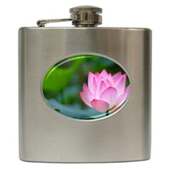 Red Pink Flower Hip Flask (6 Oz) by ironman2222