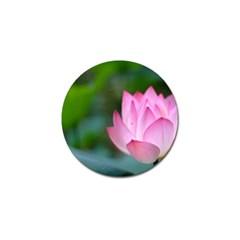 Red Pink Flower Golf Ball Marker by ironman2222