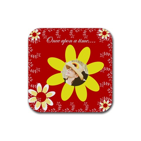 Once Upon A Time Coaster By Danielle Christiansen   Rubber Coaster (square)   2az0x70h0r1v   Www Artscow Com Front