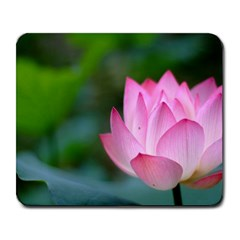 Pink Flowers Large Mousepad by ironman2222