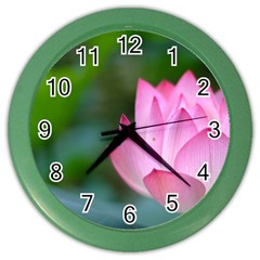 Pink Flowers Color Wall Clock by ironman2222