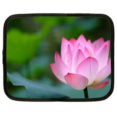 Pink Flowers Netbook Case (large) by ironman2222