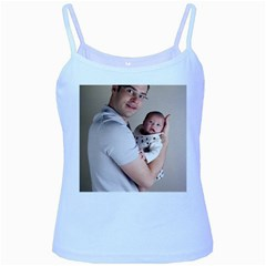 Father And Son Hug Baby Blue Spaghetti Tank by ironman2222