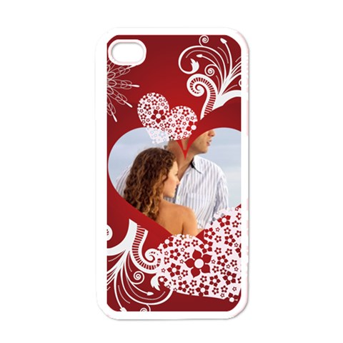 Love Case By Wood Johnson   Apple Iphone 4 Case (white)   4feetgedd6ff   Www Artscow Com Front