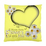 Daisy Heart Mothers Day Cushion - Standard Cushion Case (Two Sides)