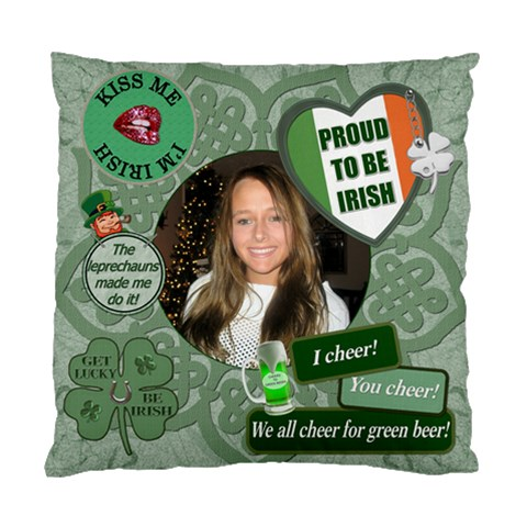 Proud To Be Irish Cushion Case By Lil    Standard Cushion Case (one Side)   Ci8mn8gzedga   Www Artscow Com Front
