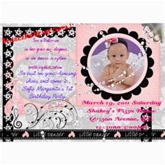 Invitation Card By Kent Salazar   5  X 7  Photo Cards   37o9r6gnmhl8   Www Artscow Com 7 x5 Photo Card - 1