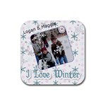 Logan & Maggie Winter 2010 - Rubber Coaster (Square)