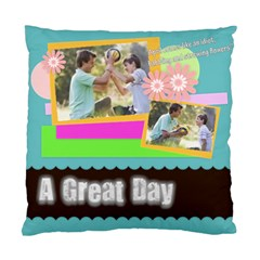Family Gift By Joely   Standard Cushion Case (two Sides)   5wag3718u4vr   Www Artscow Com Back