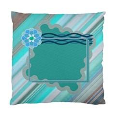Blue Flower Cushion Case By Daniela   Standard Cushion Case (two Sides)   Wisn8593bvpn   Www Artscow Com Back
