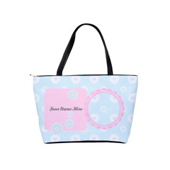 Pretty Pink Blue Custom Shoulder Bag By Purplekiss   Classic Shoulder Handbag   Xsxszfe5d8fr   Www Artscow Com Back