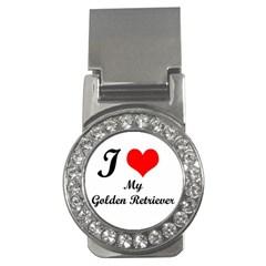 I Love My Golden Retriever Money Clip (cz) by mydogbreeds