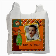 Trick Ortreat Recycle Bag 2 Sided By Snackpackgu   Recycle Bag (two Side)   Kkcmaz0s1uie   Www Artscow Com Front