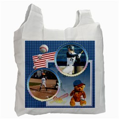 Baseball Recycle Bag By Snackpackgu   Recycle Bag (two Side)   8mbp6d76sry9   Www Artscow Com Front