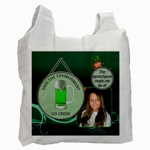 Green Beer Recycle Bag by Lil Front