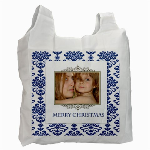 Merry Christmas By Wood Johnson   Recycle Bag (one Side)   Bn1zwew3jjgl   Www Artscow Com Front