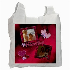 Memories Hot Pink Recycle Bag 2 Sides By Ellan   Recycle Bag (two Side)   On9j7leuxv7n   Www Artscow Com Front