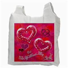 Memories Hot Pink Recycle Bag 2 Sides By Ellan   Recycle Bag (two Side)   On9j7leuxv7n   Www Artscow Com Back